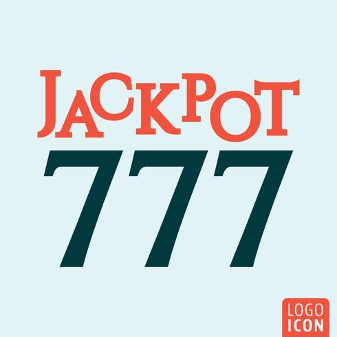 icône du jackpot 777 vecteur