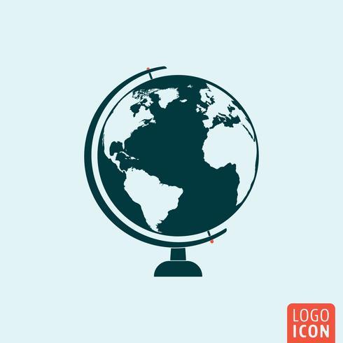 Icône de globe isolé vecteur