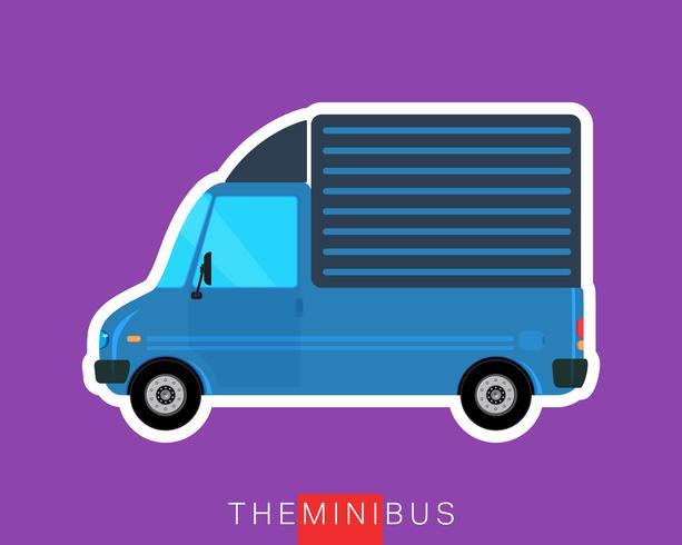 Camion de livraison vecteur