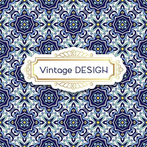 Azulejos de fond antiques et vintage dans le style de carreaux portugais. vecteur