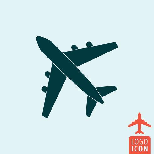 Icône d'avion isolée vecteur