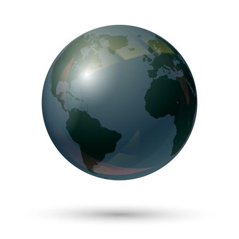 Globe terrestre Icône vecteur