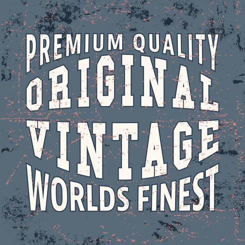 Plus beau timbre vintage vecteur