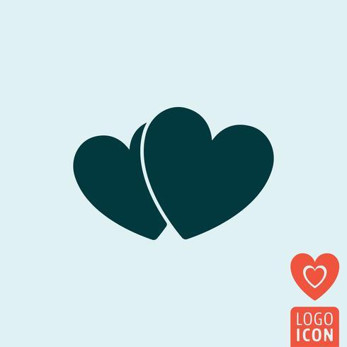 Icône du coeur isolé. vecteur