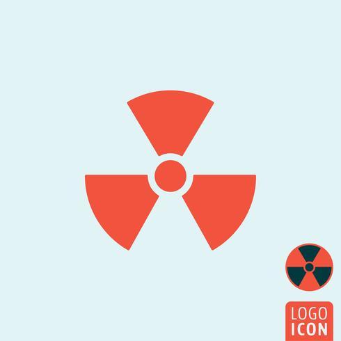 Icône de rayonnement isolé vecteur