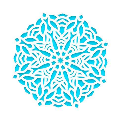 Modèle de flocons de neige découpés au laser et gravés. vecteur