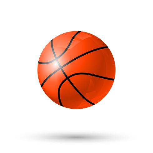 Icône boule de basketball vecteur