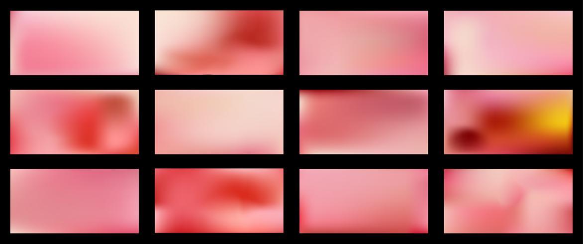 Ensemble de milieux de maille colorée abstraite lisse design vectoriel