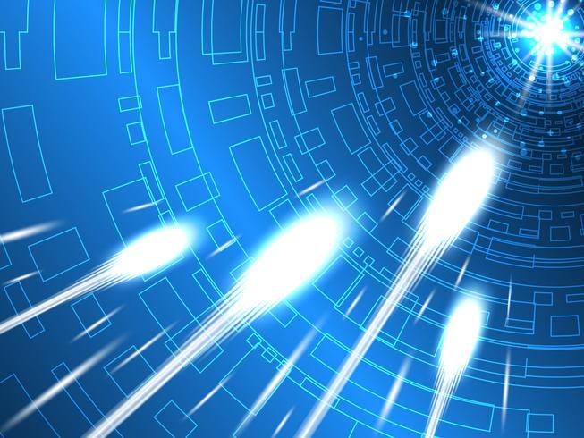 Les systèmes de télécommunication modernes sont rapides. vecteur