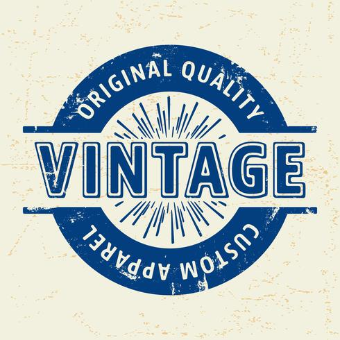 Timbre vintage personnalisé vecteur