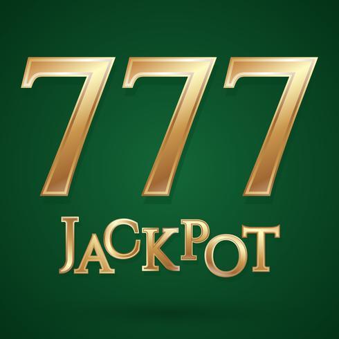 Symbole jackpot casino vecteur
