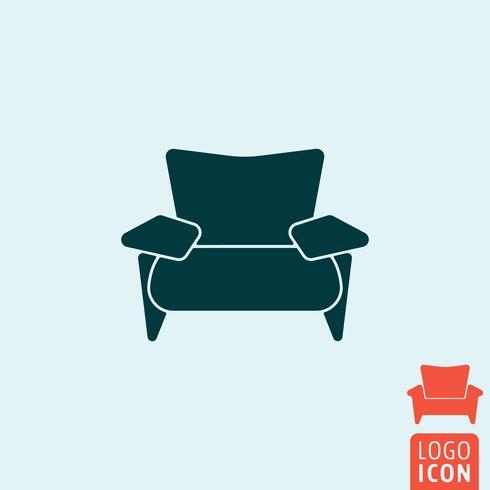 Icône de fauteuil isolé vecteur