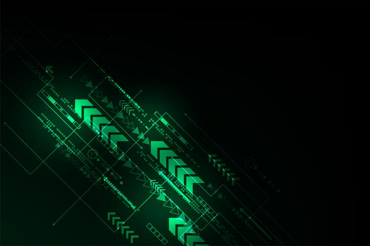 Le mouvement de l'information dans le monde numérique. vecteur