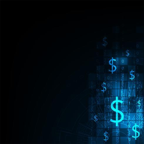 Technologie dans le concept de monnaie électronique. vecteur