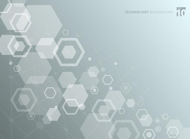 Structure hexagonale abstraite des molécules. L'étude moléculaire en chimie. Fond de technologie. vecteur