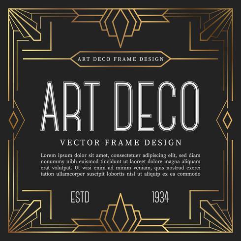 Style vintage de style art déco. illustration vectorielle vecteur