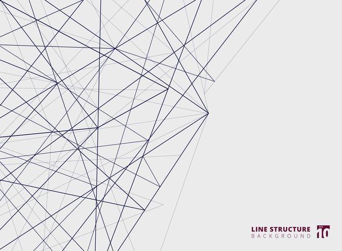 Structure de lignes de chevauchement abstraite sur fond blanc. vecteur