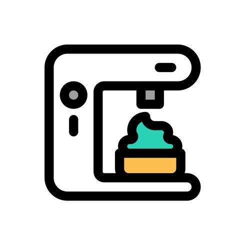 Vecteur de machine à servir molle, contour éditable icône remplis de bonbons