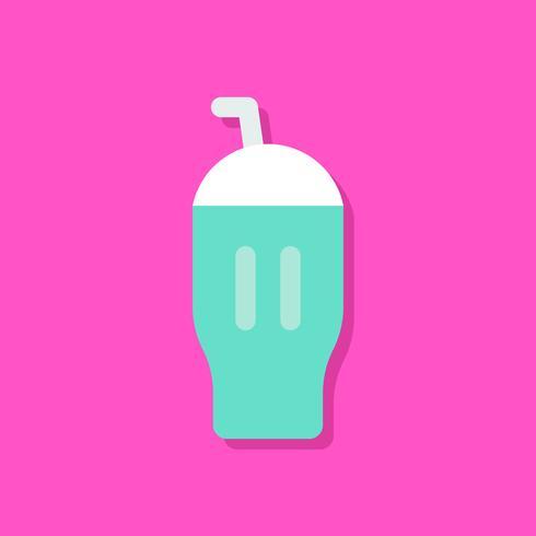 Illustration vectorielle de crème glacée milkshake, icône de style plat de bonbons vecteur