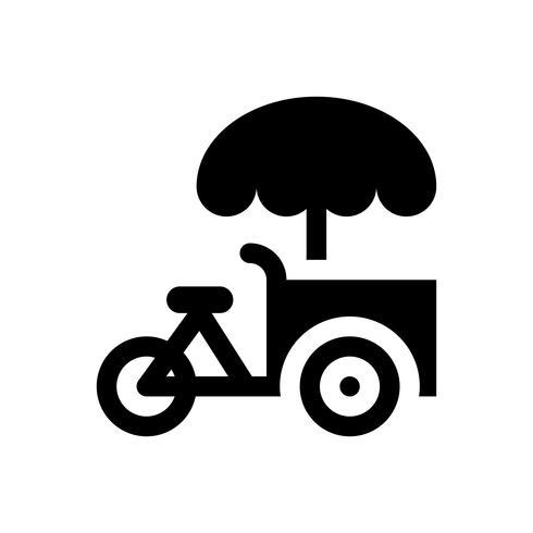 Illustration vectorielle de vélo de crème glacée, icône de style solide vecteur