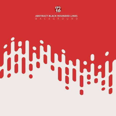 Abstrait rouge arrondi lignes transition demi-teinte. vecteur