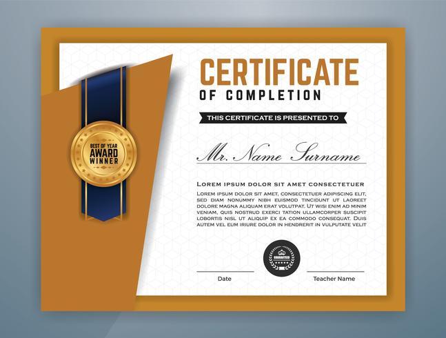Modèle de certificat professionnel polyvalent moderne vecteur