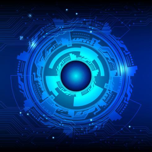 Fond de vecteur de couleur bleu foncé. Concept abstrait de technologie numérique.