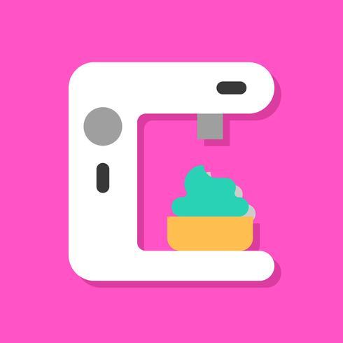 Illustration vectorielle de soft serve, icône de style plat de bonbons vecteur