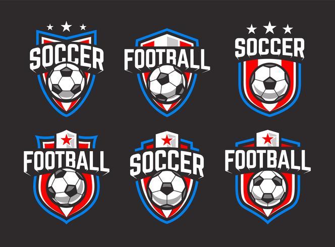 ensemble d'emblèmes de football vecteur