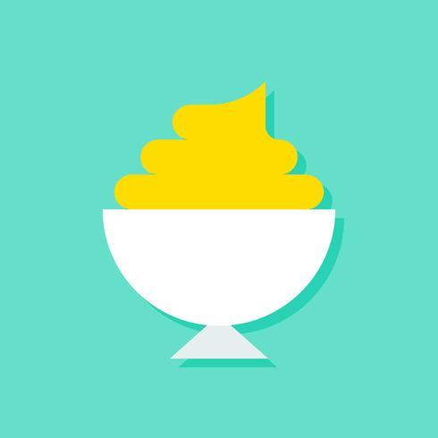 Illustration vectorielle soft serve, icône de style plat de bonbons vecteur