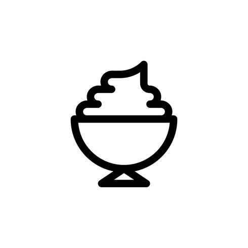Illustration vectorielle soft serve, icône de style de ligne de bonbons vecteur