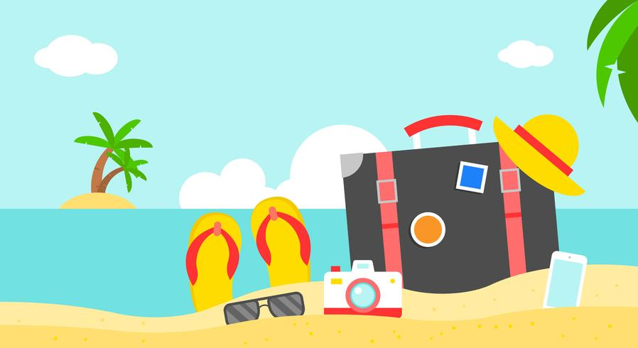 Vacances d'été, illustration vectorielle d'affiche plage été vecteur