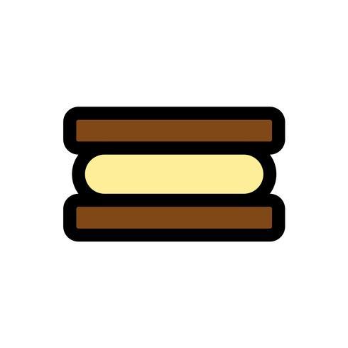 Vecteur de sandwich à la crème glacée, contour éditable icône remplis de bonbons