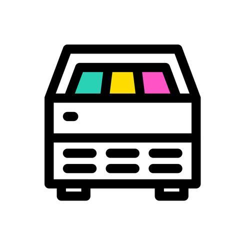 Ice Cream Fridge vector, contour éditable icône remplie vecteur