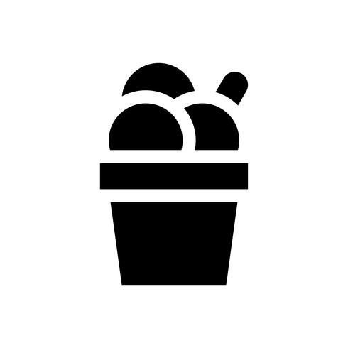 Illustration vectorielle de tasse de crème glacée, icône de style solide bonbons vecteur