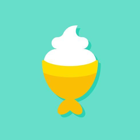 Illustration vectorielle de poisson en forme de crème glacée, icône de style plat de bonbons vecteur
