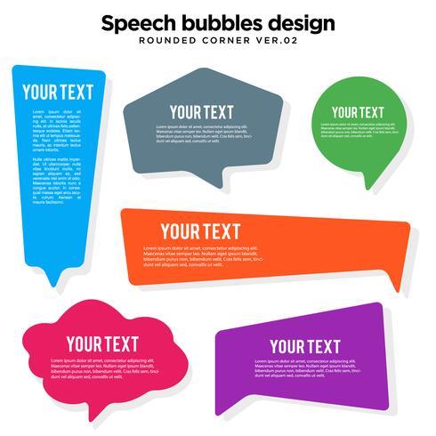Jeu de variations de bulles de parole vecteur
