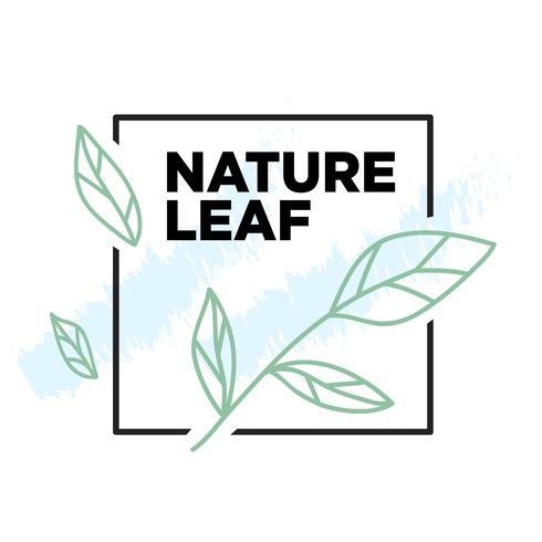 Conception simple illustration botanique de nature vecteur