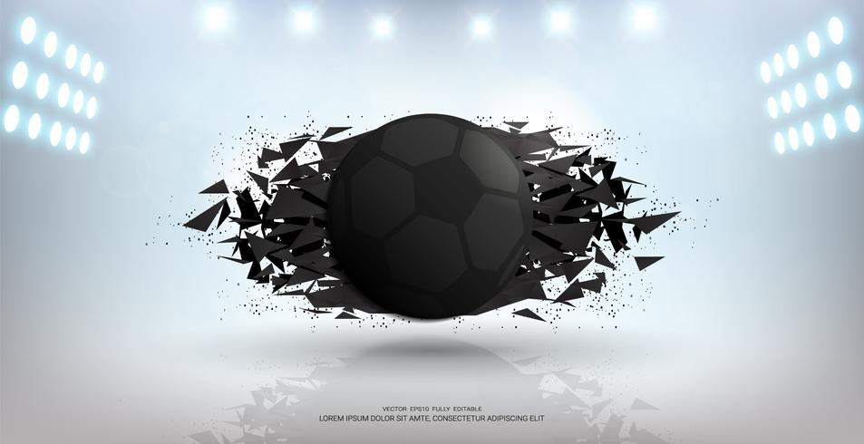 Fond de bannière de sport, élément de balle 3d de conception graphique réaliste avec espace de copie pour le modèle de maquette de présentation. vecteur