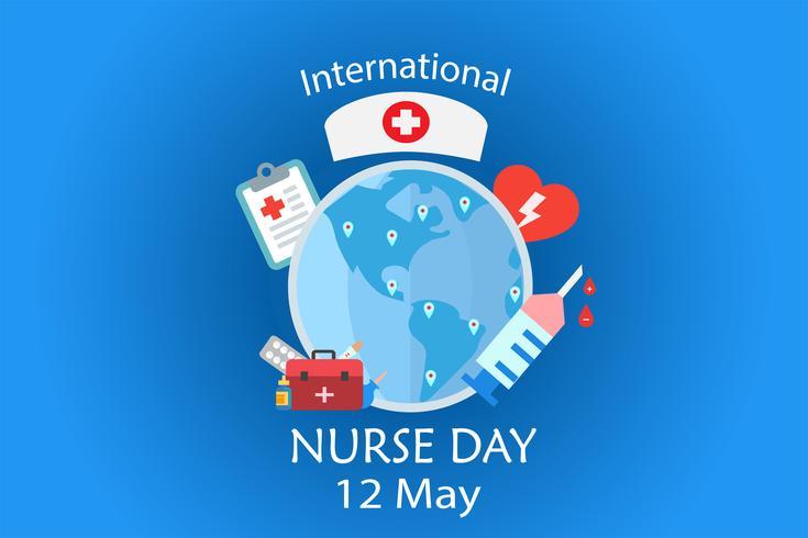 Journée internationale des infirmières le mois de mai de chaque année design by vector in tonality tone concept