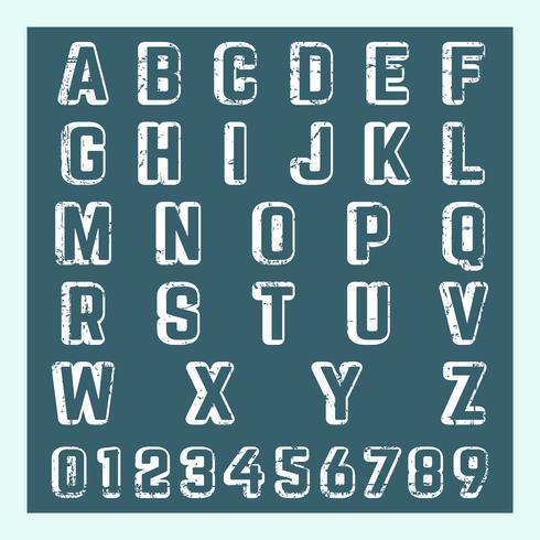 Modèle de numéro de lettre vecteur