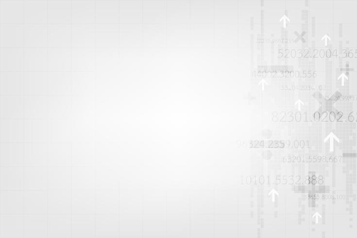 Fond de vecteur dans le concept de la technologie sur un fond gris.