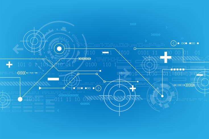 Abstrait Vector dans le concept de la technologie.