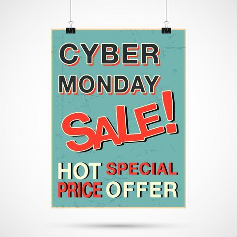 Cyber lundi vente vecteur