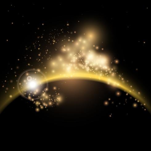 Fond de lever de soleil solaire vecteur