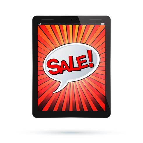 Vecteur de vente de tablette
