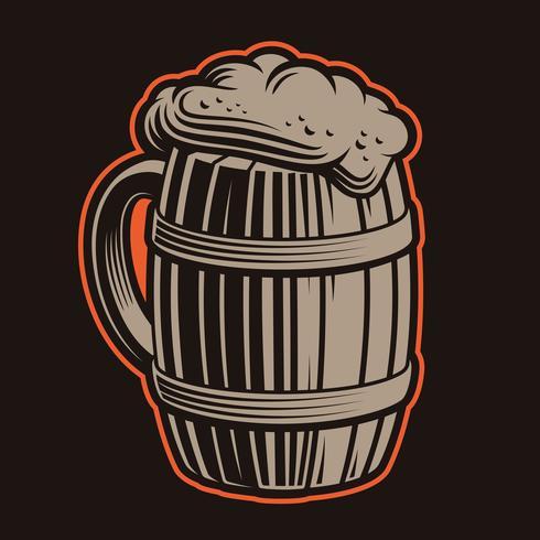 Illustration vectorielle de chope de bière vecteur