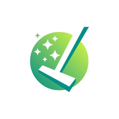Symbole de nettoyage entreprise vecteur