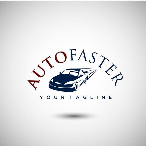 Création de logo de voiture élégante vecteur