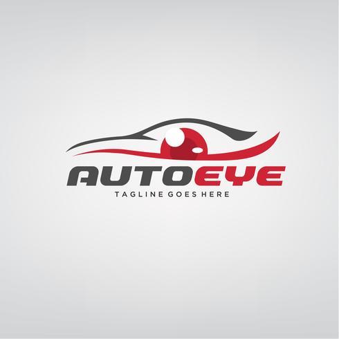 Création de logo de voiture oeil automatique vecteur